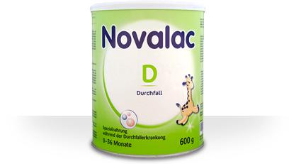 Novalac D<br /> Säuglingsspezialnahrung bei Durchfallerkrankungen
